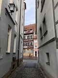 Cozy German city and Fachwerk. Bamberg, Germany stock photography