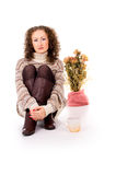 Cozy girl resting Royalty Free Stock Image