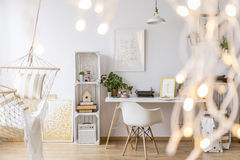 Cozy girl`s apartment Stock Images