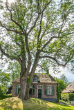 Cozy historic cottage in Dwarsgracht Holland Royalty Free Stock Image