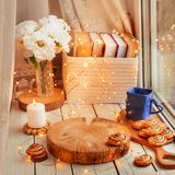 Cozy home background royalty free stock photography