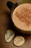 Cozy hot chocolate Stock Images