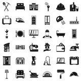 Cozy house icons set, simple style. Cozy house icons set. Simple style of 36 cozy house vector icons for web isolated on white background Royalty Free Stock Photo