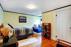 Cozy ivory bedroom Stock Photos
