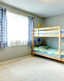 Cozy kids room with a two level bed Stock Images