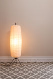 Cozy lamp in empty room Royalty Free Stock Image