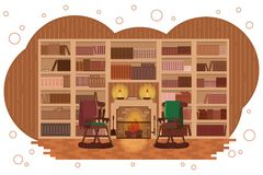 Cozy library. royalty free illustration