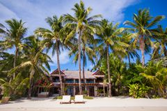Cozy little hotel on a tropical exotic resort Royalty Free Stock Photo