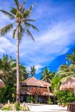 Cozy little hotel on a tropical exotic resort at Stock Photography
