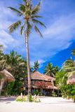Cozy little hotel on a tropical exotic resort at Stock Images