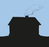 Cozy little house. Vector sketch Royalty Free Stock Photos