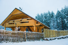 Cozy little wooden house Stock Photos