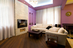 Cozy living room. In home interior Royalty Free Stock Photography