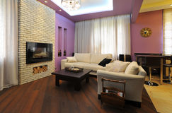 Cozy living room. In home interior Royalty Free Stock Photo