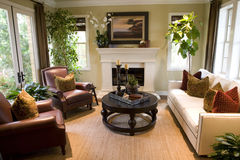 Cozy living room. royalty free stock image