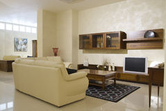 Cozy living room. With sofa and table Stock Image