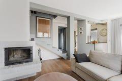 Cozy living room. Bright cozy living room in luxury residence Stock Photos