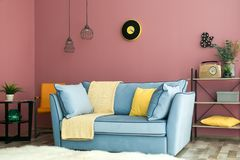 Cozy living room interior. With comfortable sofa Stock Photo