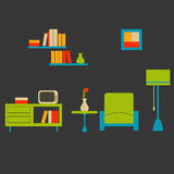 Cozy living room Stock Images