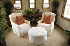Cozy lounge area for two. Royalty Free Stock Photos