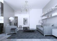 Cozy modern gothic lounge Stock Photo