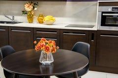 Cozy modern kitchen interior. With furniture stock photos