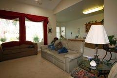 Cozy modern living room Royalty Free Stock Photos