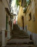Cozy narrow italian street. In Positano Stock Photos