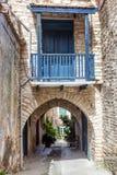 Cozy narrow street in Pano Lefkara village. Limassol District, C Stock Photos