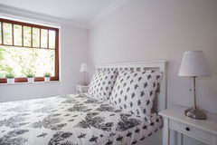Cozy and neat bed Royalty Free Stock Photo