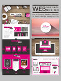 Cozy one page website template design Stock Images