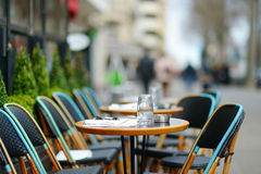 Cozy outdoor cafe Stock Photos