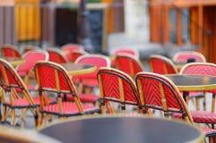 Cozy outdoor cafe Stock Photos