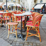 Cozy outdoor cafe in Paris Royalty Free Stock Photography