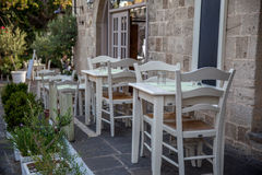 Cozy outdoor cafe Stock Image