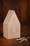 Cozy paper house Stock Images