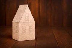 Cozy paper house Stock Image