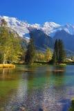 Cozy park in Chamonix Royalty Free Stock Photography
