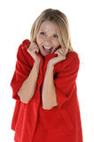 Cozy Red Coat Royalty Free Stock Photography