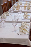 Cozy Restaurant tables ready for service Royalty Free Stock Photography
