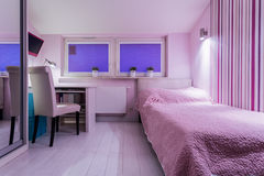Cozy room for girl Stock Photography