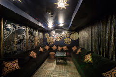 The cozy room of Karaoke - Club PHARAOH Stock Images