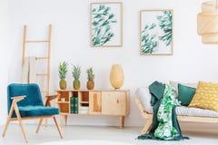Cozy room with pineapples Stock Photo