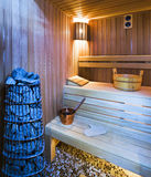 Cozy sauna Stock Photo