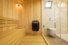 Cozy sauna Royalty Free Stock Photo