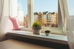 Cozy sill - place to relax royalty free stock image