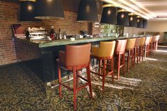 Cozy small bar in modern hotel Stock Photography