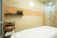 Cozy spa room interior Royalty Free Stock Image