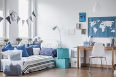 Cozy space for boy Royalty Free Stock Images
