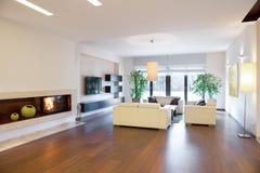 Cozy spacious living room Royalty Free Stock Photo